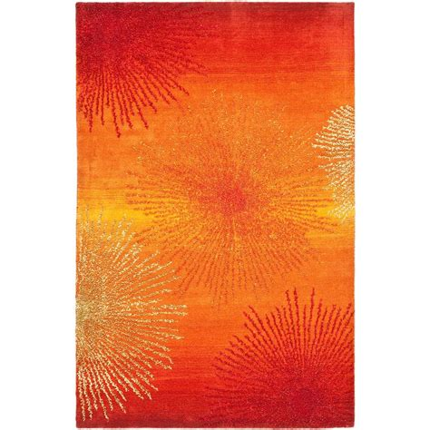5 by 8 area rugs safavieh soho rust multi wool 5 ft x 8 ft area rug soh712r 5 the home depot