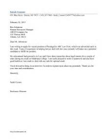 Cover Letter Paralegal by Paralegal Cover Letter Template Free Microsoft Word Templates