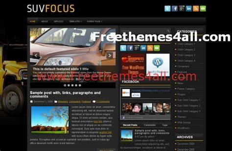 themes download all cars news wordpress theme download