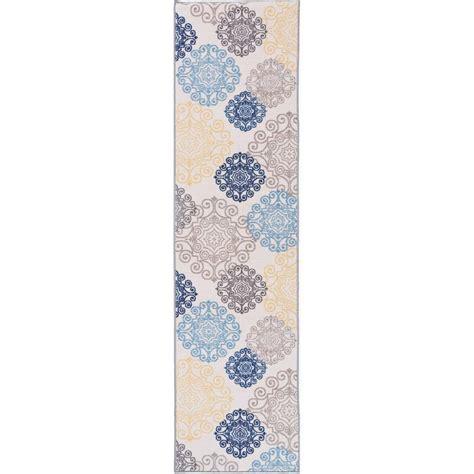 non slip runner rugs modern floral swirl design non slip non skid area rug runner 2 ft x 7 ft 508 2x7