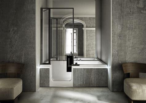 vasca da bagno combinata vasca e doccia in un unica soluzione idee