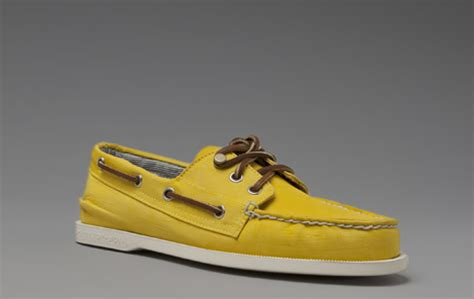 yellow sperry boat shoes sperry for band of outsiders yellow nylon boat shoes por