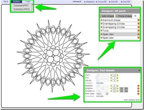 Mandala Design Maker   colormandala free app to create color print beautiful