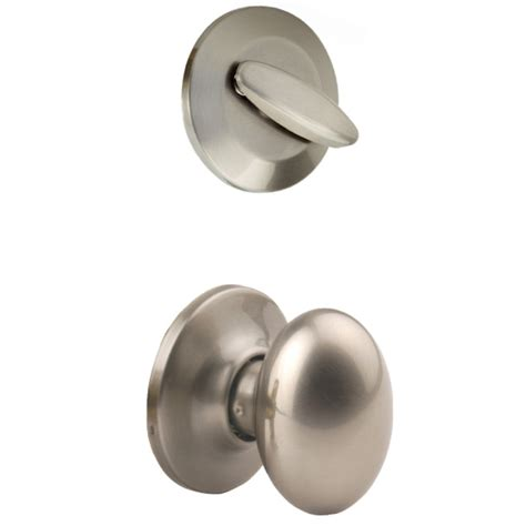 Satin Nickel Interior Door Knobs Shop Yale Security Terra 1 3 4 In Satin Nickel Single Cylinder Knob Entry Door Interior Handle