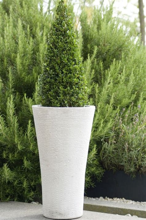 White Outdoor Plant Pots Large Garden Planter Plant Pot Flower Pot Garden Urn
