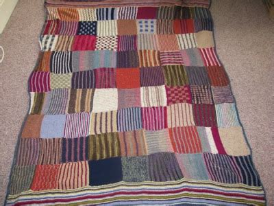 Knitted Patchwork Quilt - lazyknits knitted patchwork quilt