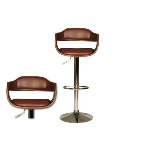 brown bar stools leather anna brown faux leather bar stool