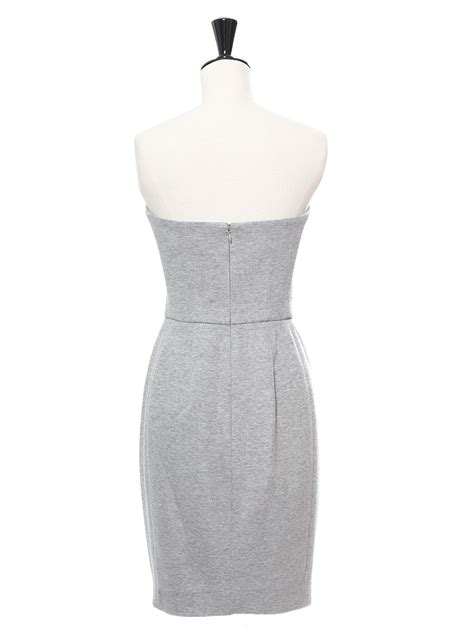 Who Wore It Better Yves Laurent Strapless Grey Dress by Louise Yves Laurent Light Grey Cotton