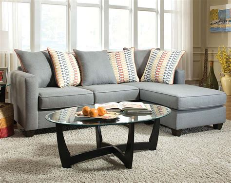 2 pc sectional sofa soft blue gray couch with chaise mode gray 2 pc