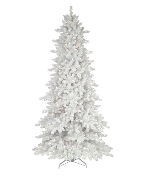 flocked white trees flocked white fir deluxe artificial tree tree