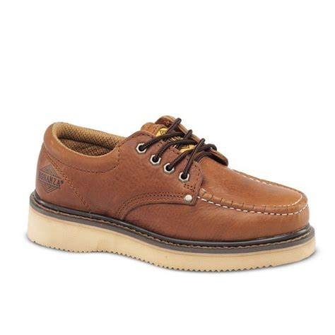 work boot sneakers mens light brown 4 quot oxford leather waterproof work shoes