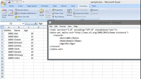Converting Xls To Xml Tutorial Excel Spreadsheet To Xml Youtube Xml Template For Excel