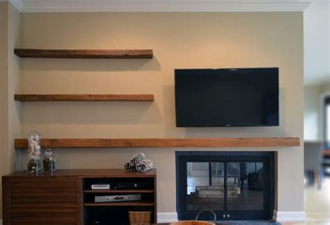 custom built floating shelves made reclaimed lumber floating shelves by abodeacious