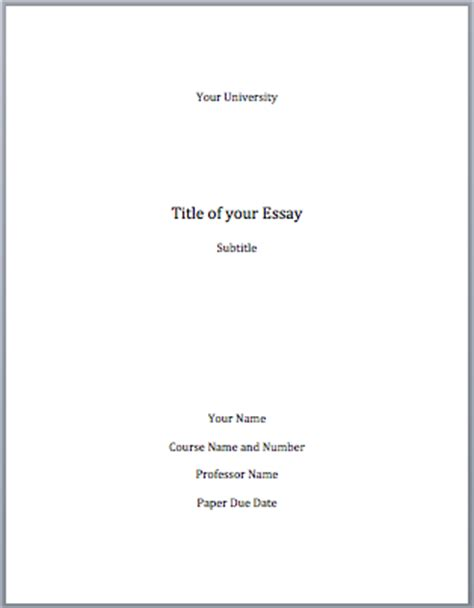 cover page for term paper mla format cover page mla format