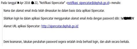 email dephub pendaftaran seleksi calon taruna sekolah tinggi