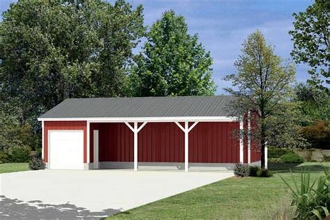 Detached Garage Plans With Bonus Room by Project Plan 85936 Pole Building Equipment Shed