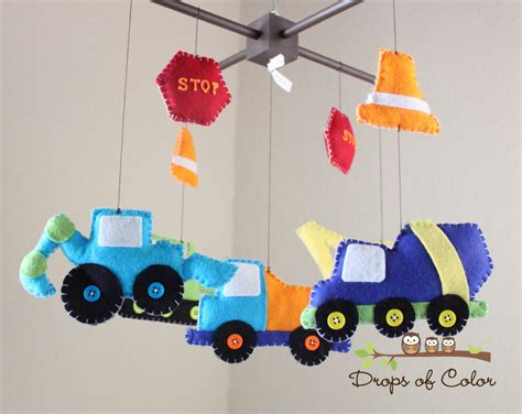 Crib Mobiles For by Baby Crib Mobile Baby Mobile Construction Truck Mobile