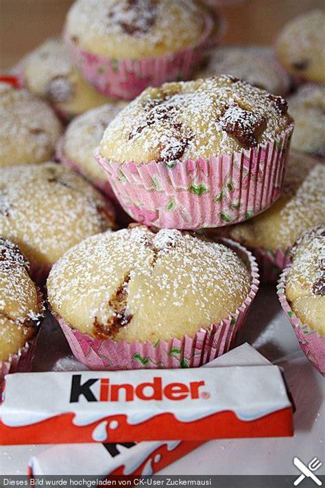 kinderschokolade kuchen rezept kinderschokolade muffins backen muffins