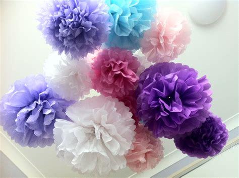 Paper Pom Poms - sweet tissue paper pom poms