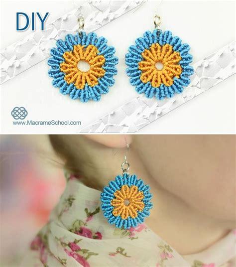 Macrame Tutorials - macrame flower earrings tutorial 171 jewelry