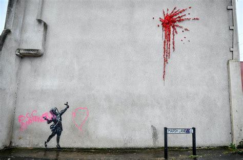 banksy     vandalises graffiti