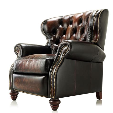 High Leg Leather Recliner by Marquis High Leg Reclining Chair Ohio Hardwood Furniture