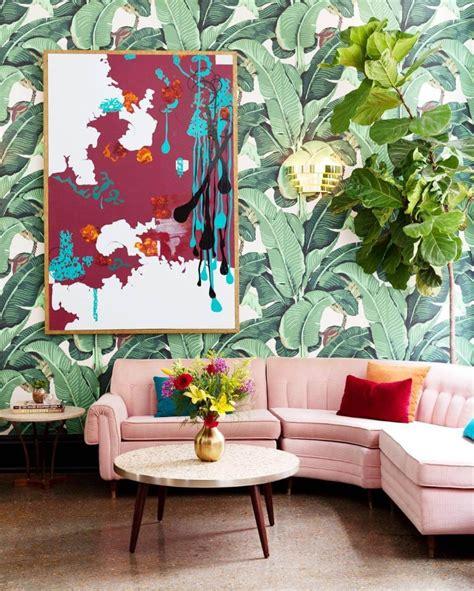 interior design trends 2018 tropical prints