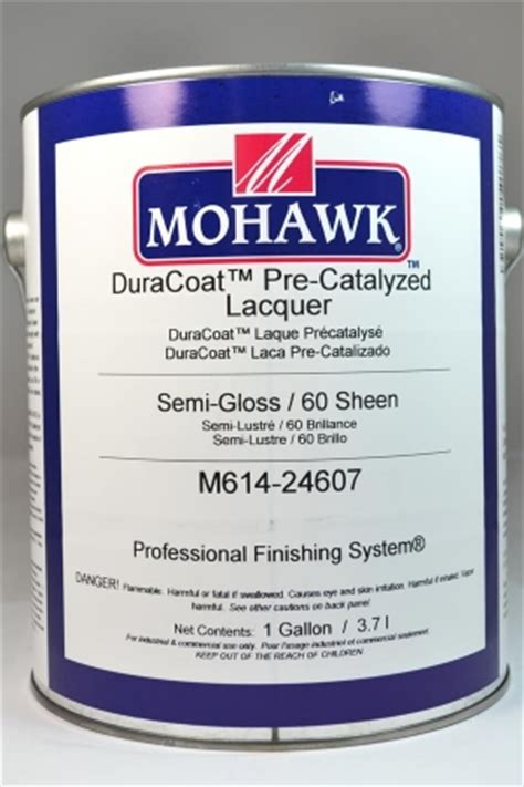 mohawk duracoat pre catalyzed lacquer semi gloss  sheen