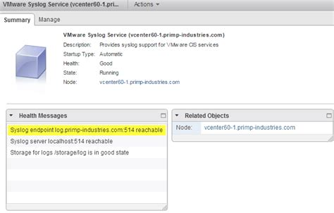 syslog server port a preview of syslog support in vcsa 6 0
