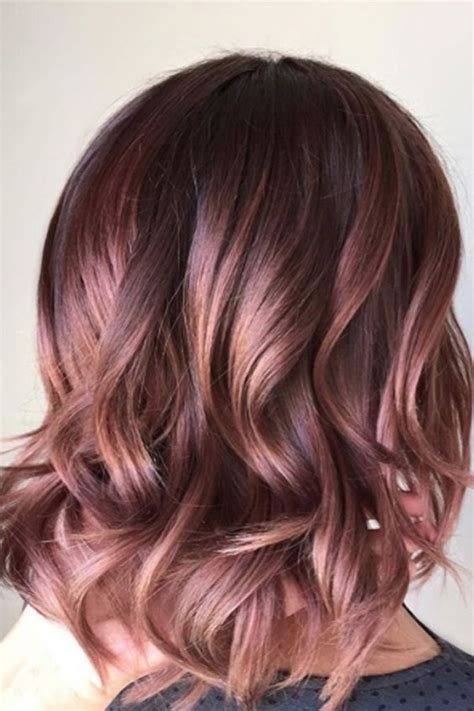 hair color and highlights trend for women over 50 35 sparkling brilliant rose gold hair color ideas