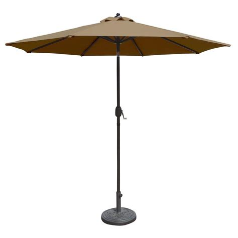 10 Patio Umbrella Island Umbrella Santiago 10 Ft Octagonal Cantilever Patio Umbrella In Beige Sunbrella Acrylic