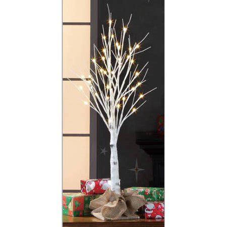 stick christmas trees with lights time pre lit 3 white birch stick artificial tree warm white lights walmart