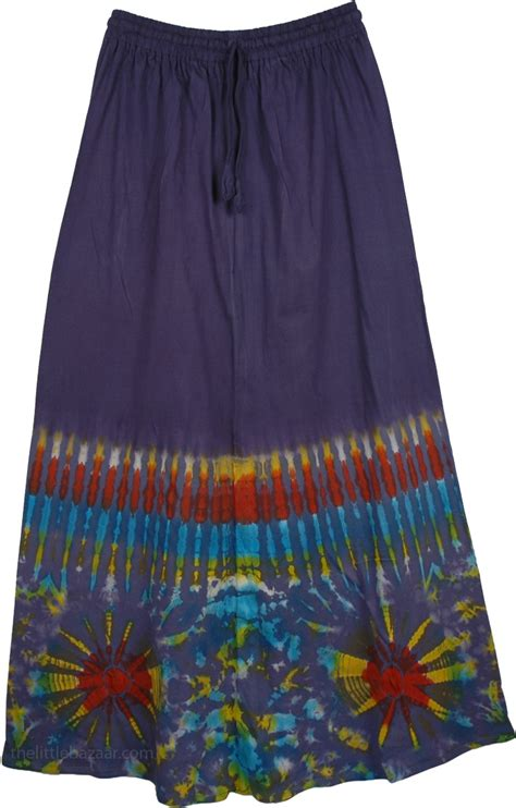 blue tie dye eclectic skirt clothing sale on bags