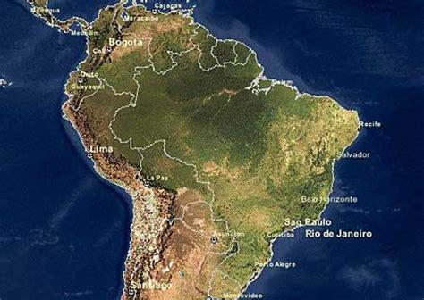satellite map of brazil brasilien satelliten karte