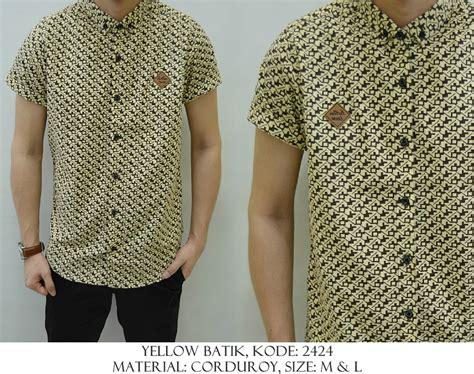 Kemeja Yellow baju distro baju kemeja yellow batik shirostore baju