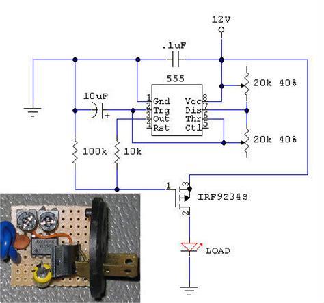 diy silent adjustable rate flasher relay schematic schem