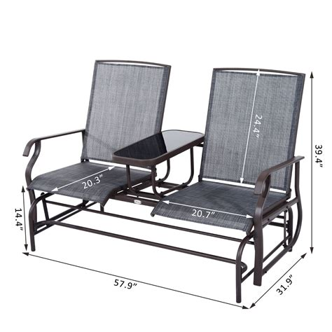 rocker bench patio glider rocking chair bench loveseat 2 person rocker