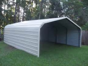 traditional carport with sides enclosed r b metal structures