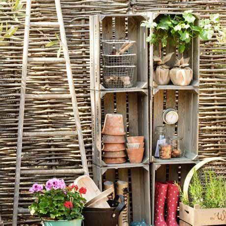 garden storage ideas flaming petal