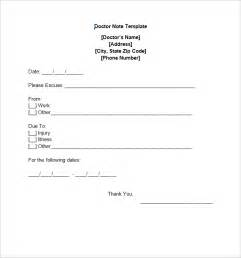 8 doctor note templates free sample example download