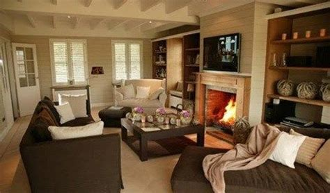 decorar living  sofa marron casa web