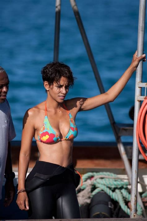 Halle Berry Gets On Knees For A by 99 Moments In