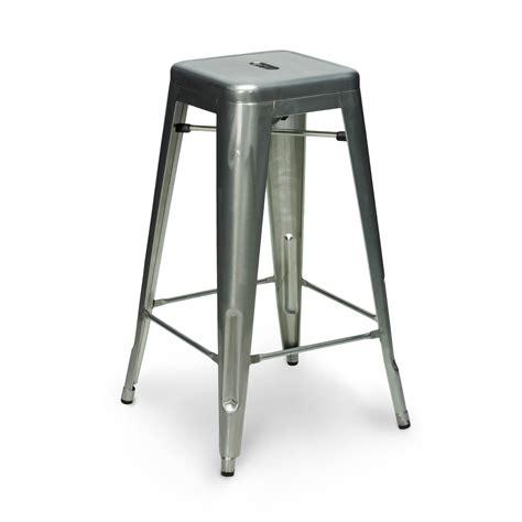 galvanised stool 65cm 75cm
