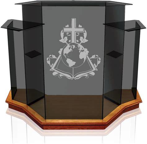 church glass pulpit