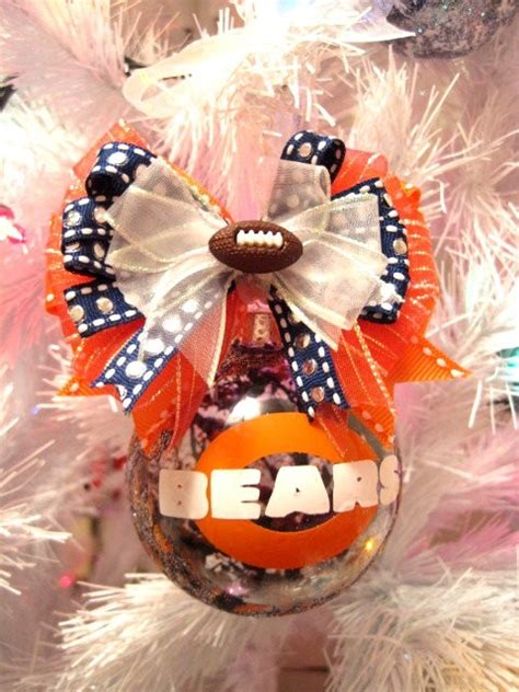 chicago bears christmas ornament hand painted xmas ornament