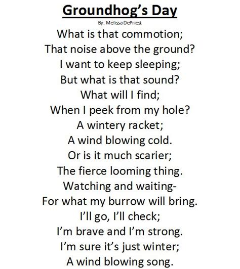 groundhog day poem groundhog day poems for grade 1 search poetry
