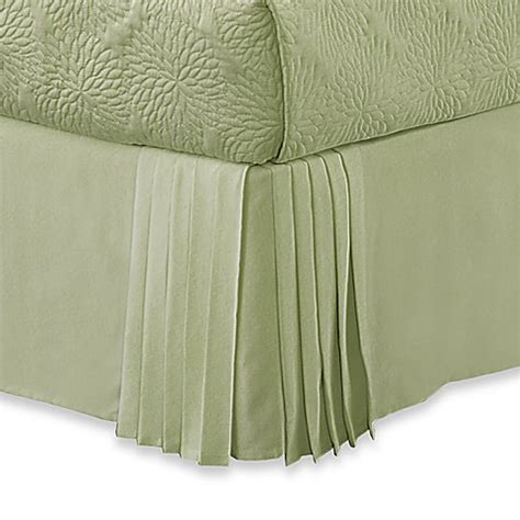 pleated bed skirt pleated corner full bed skirt by dkny bed bath beyond