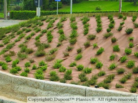Landscape Fabric Allow Water Through Dupont Plantex Gold Fabric For Inclined