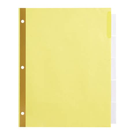 Office Depot Brand Insertable Dividers With Big Tabs Buff Clear Tabs 5 Tab By Office Depot Office Depot Big Tabs Insertable Template