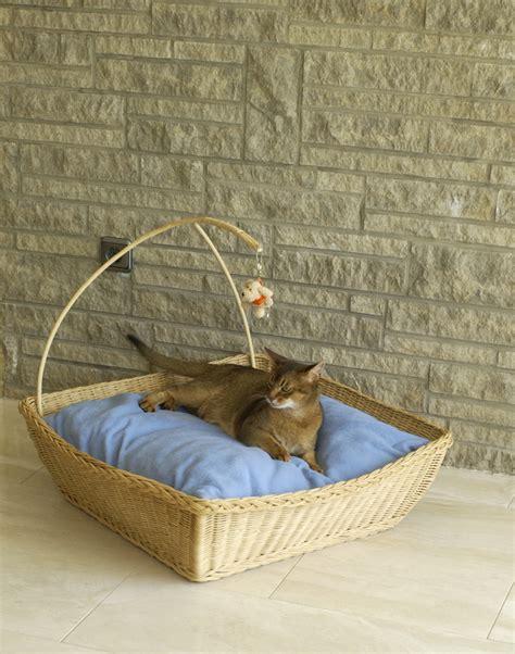 luxury wicker cat basket aristopaws